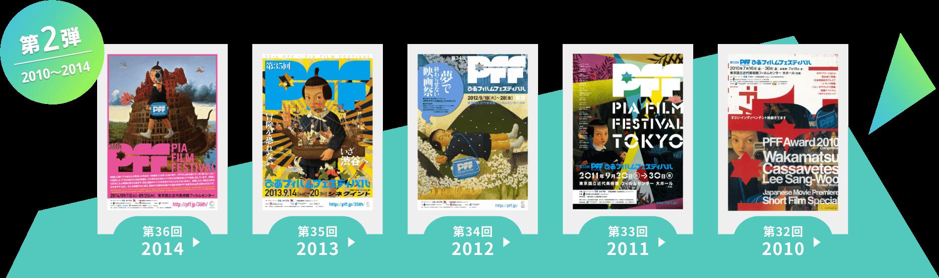 第2弾 2010〜2014 12月22日からの第2弾配信では、PFFアワード2010~2014の入選作品約50本をまとめて上映いたします。